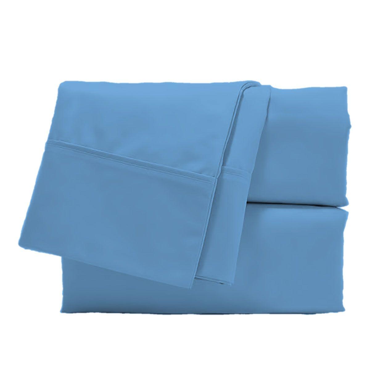 Juego de Sábanas Polyblanc Plus 40cm Algodón Azul Bleach