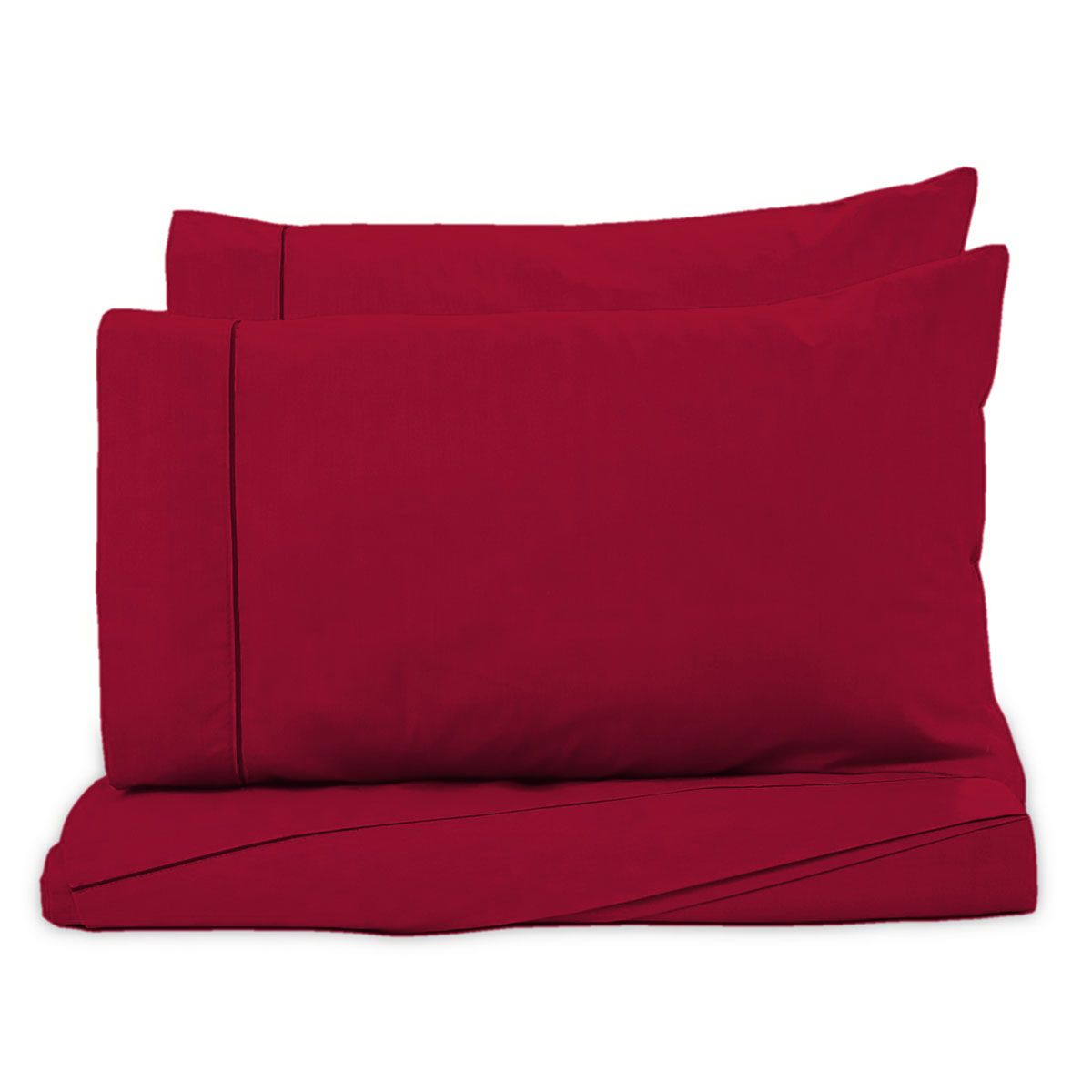 Juego de Sábanas Polyblanc Plus 40cm Algodón Rojo