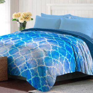 Cobertor Polyblanc Coral 2 Vistas King Size Océano