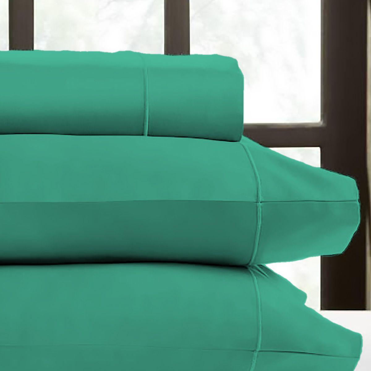 Juego de Sábanas Polyblanc Verde Jade